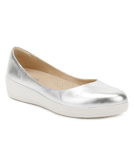 Fitflop | Metallic Womens Silver Superballerina Shoes | Lyst