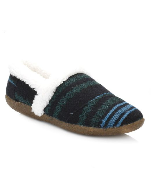 TOMS | Womens Blue Green Wool Slippers | Lyst