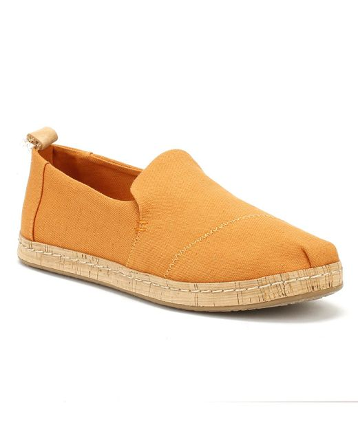 TOMS - Womens Saffron Orange Deconstructed Cork Espadrilles - Lyst
