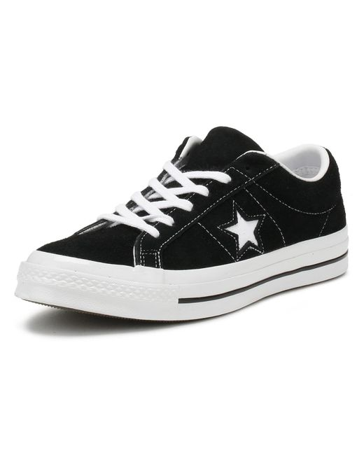 3296b25dc24820 ... Converse - One Star Black Premium Suede Ox Trainers for Men - Lyst ...