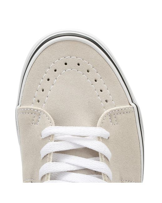 Vans Silver Lining   True White Sk8-hi Trainers in Natural - Save 43 ... 7df505739