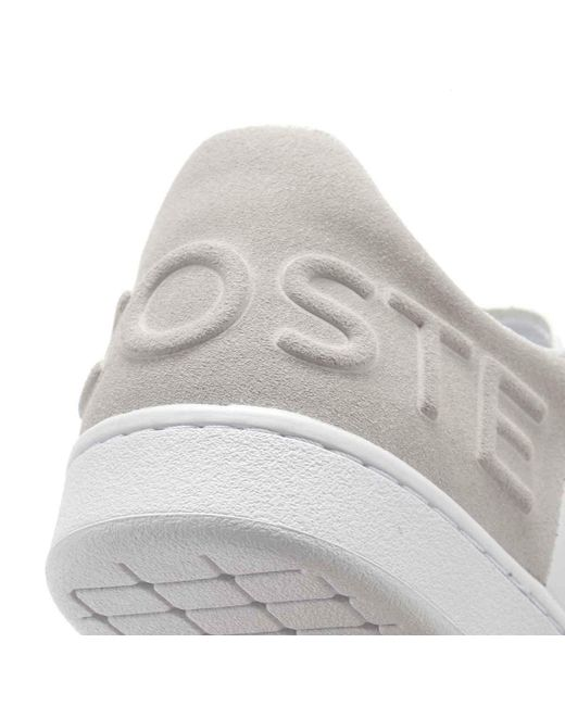 2ee75c712753f7 ... Lacoste - Womens White   Light Grey Carnaby Evo 318 3 Trainers - Lyst