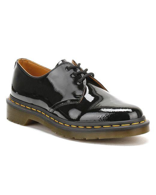 Dr. Martens - Dr. Martens Womens Black 1461 Patent Leather Shoes - Lyst
