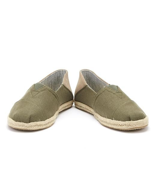 3fbb8947a446b TOMS Heritage Mens Lichen Green Espadrilles in Green for Men - Save ...