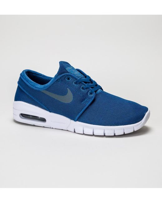 a022b80099ad Nike Stefan Janoski Max Trainers in Blue - Save 33.70786516853933 ...