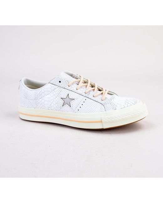 Converse - Multicolor 161545c One Star Ox Egret-light Twine-egret Trainers  - Lyst ... bb971ad58