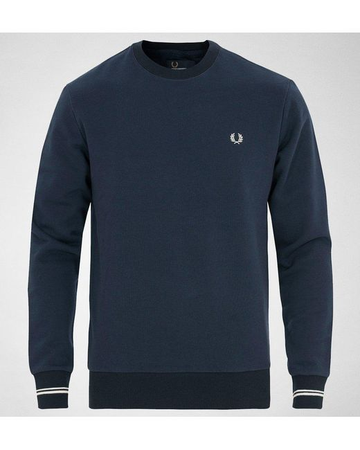 Fred Perry - Blue Fred Perry M2599 Crew Neck Sweat Jumpers & Cardigans for Men - Lyst