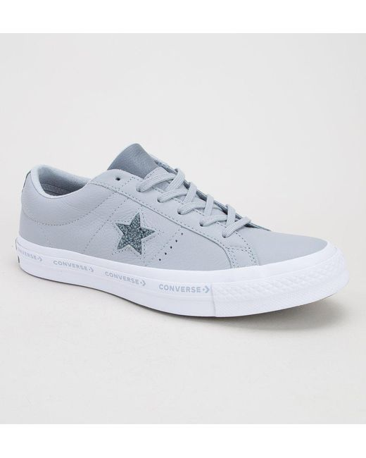 37d6af4b807e6e Converse - Blue One Star Ox 159723c Wolf-grey-cool Grey Trainers for Men ...