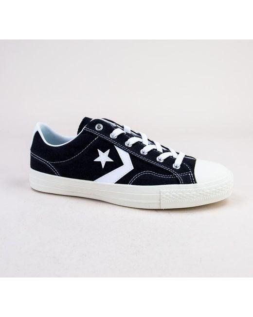 Converse - Blue 161569c Star Player Ox Black-white-white Trainers for Men  ... 7c3f049e3
