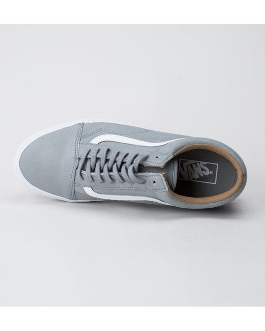 a864779b39a698 ... Vans - Multicolor Old Skool (premium Leather) Wild Dove Trainers for Men  - Lyst ...