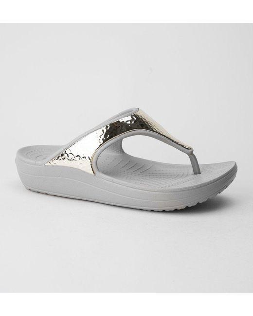 7d424f3e1610 Crocs™ - Multicolor Sloane Embellished Flip Sandals - Lyst ...
