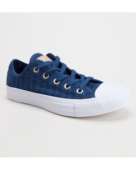 14e2c9a6c0dabc Converse - Blue 560632c Ct As Ox Trainers - Lyst ...