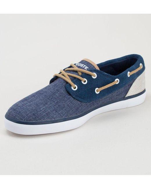 ... Lacoste - Blue Jouer Deck 218 1 Cam Nvy-nat Shoes for Men - Lyst ... 3e9b31ec630