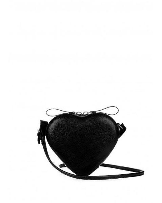 Vivienne Westwood - Black Johanna Heart Crossbody Bag - Lyst