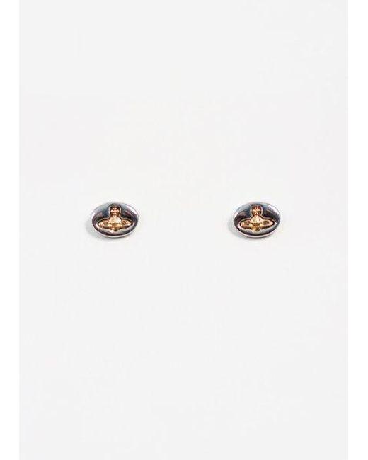 Vivienne Westwood | Metallic Embossed Logo Stud Earrings | Lyst