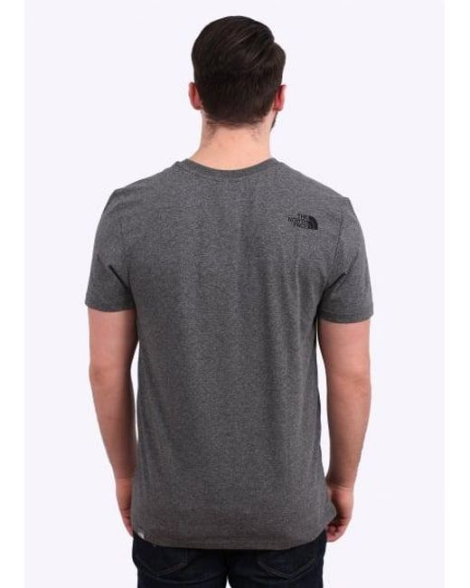 The North Face - Gray Simple Dome Tee for Men - Lyst