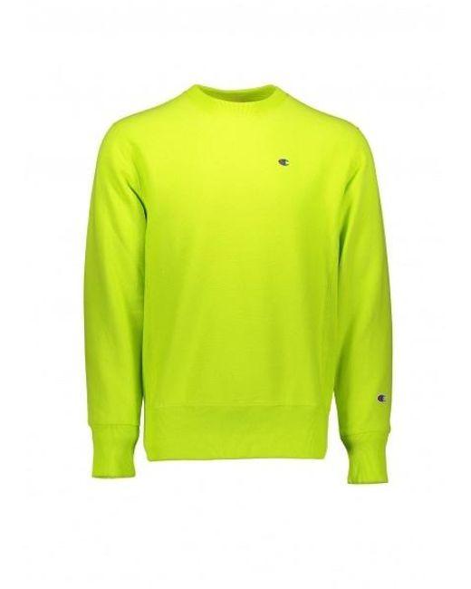 32021c02 Champion - Green Reverse Weave Sweatshirt for Men - Lyst ...