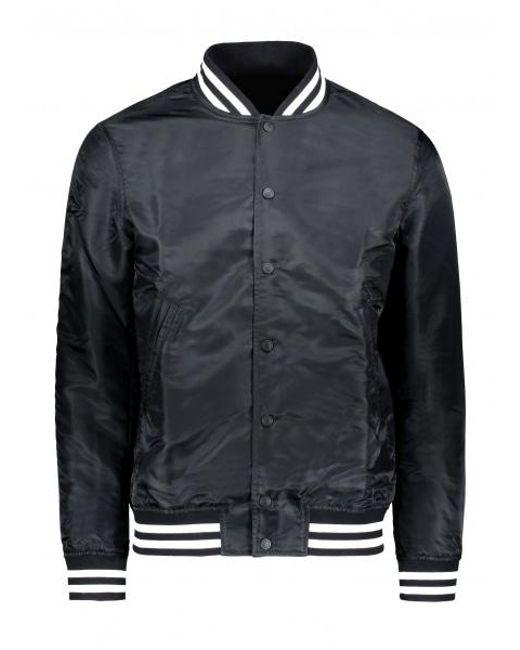 Reigning Champ - Black Embroidered Stadium Jacket for Men - Lyst