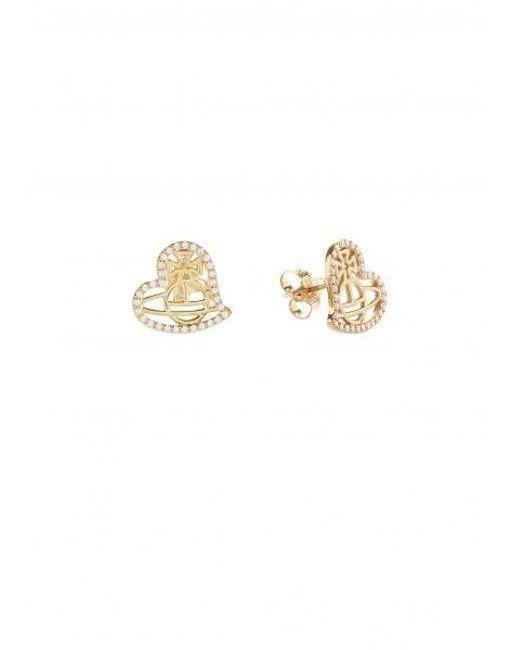 8c3d37703 ... Vivienne Westwood - Metallic Giuseppa Stud Earrings - Lyst