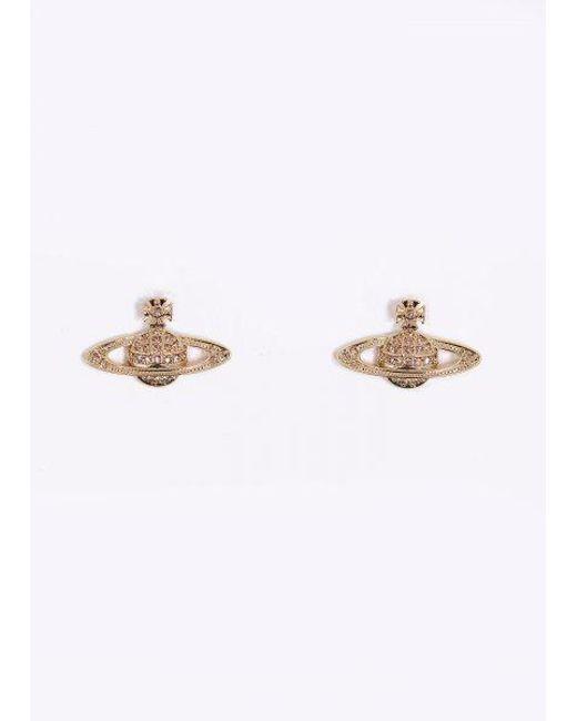 Vivienne Westwood - Metallic Mini Bas Pierced Earrings - Lyst