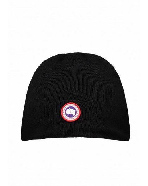 6119d1d473b Canada Goose - Black Standard Toque Hat for Men - Lyst ...