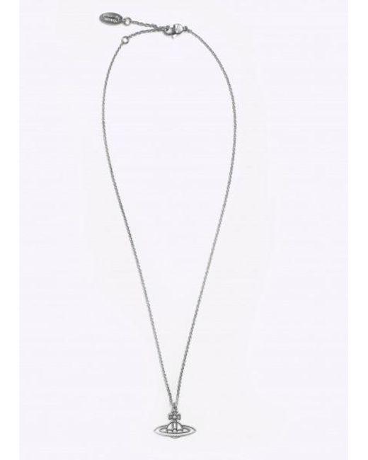 Vivienne Westwood - Metallic Thin Lines Flat Orb Pendant - Lyst