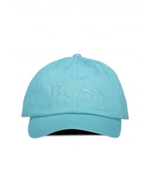 BOSS - Blue Fritz Cap for Men - Lyst