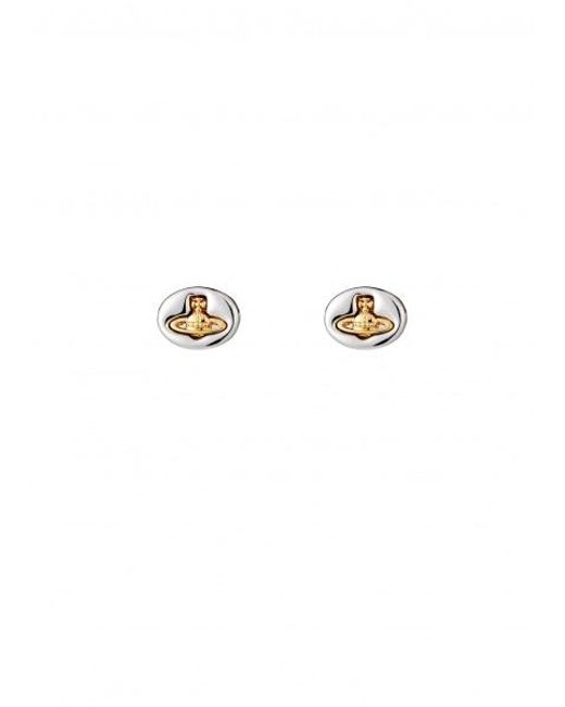 Vivienne Westwood - Metallic Embossed Logo Stud Earrings - Lyst