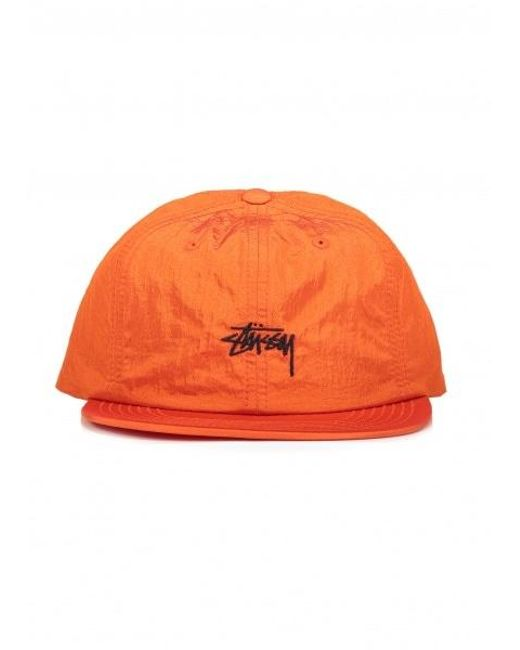 e906cd67 Stussy - Orange Stock Nylon Strapback Cap for Men - Lyst ...