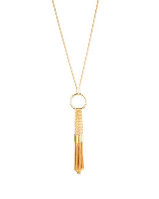 Trina Turk - Multicolor Golden State Tassel Pendant Necklace - Lyst