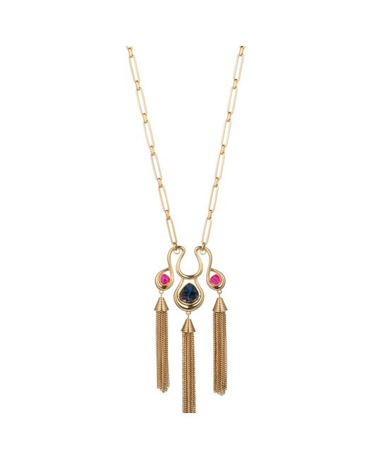 Trina Turk | Multicolor Hollywood Hills Tassel Pendant Necklace | Lyst