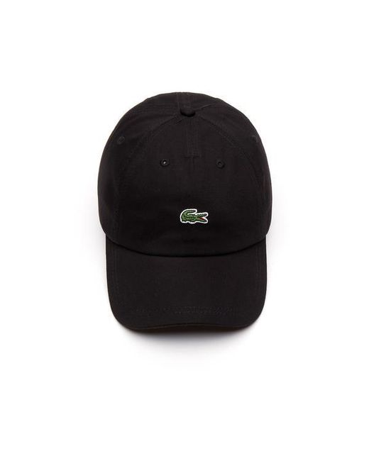 d6aaaea9 ... Lacoste - Black Cotton Embroidered Crocodile Cap for Men - Lyst ...