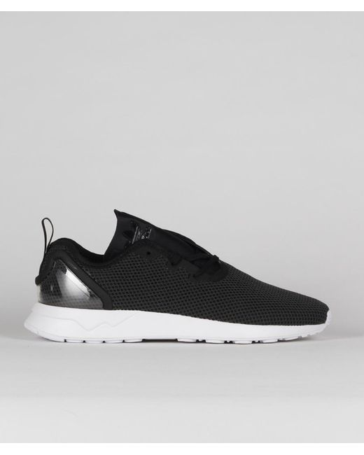 finest selection e76dd f5303 Men's Black Synthetic Leather Originals Zx Flux Adv Asym Shoes