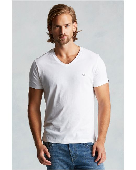 True Religion | White Vneck Mens Tee for Men | Lyst