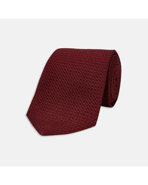 Turnbull & Asser - Red Burgundy Grenadine Silk Tie for Men - Lyst