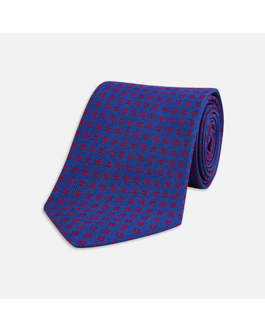 Turnbull & Asser - Purple Navy And Red Mini Square Spot Silk Tie for Men - Lyst