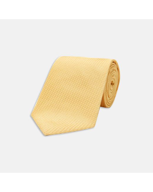 Turnbull & Asser - Yellow Lace Silk Tie for Men - Lyst
