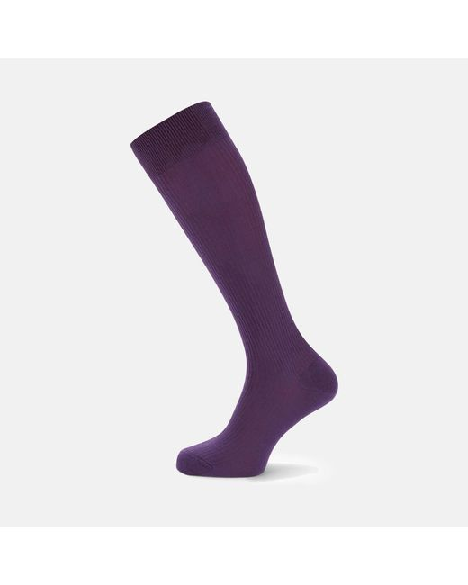 Turnbull & Asser | Purple Long Wool Socks for Men | Lyst