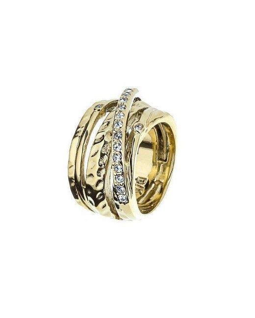 Dyrberg/Kern - Metallic Wendolyn Gold Crystal Ring - Lyst