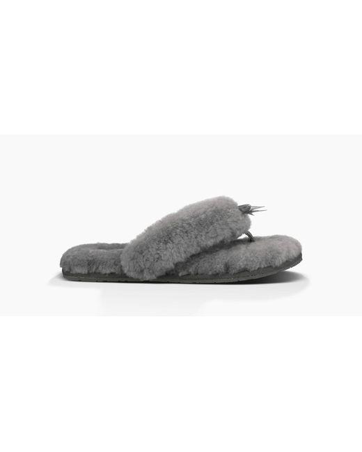 Ugg | Gray Women's Fluff Flip Flop Ii | Lyst