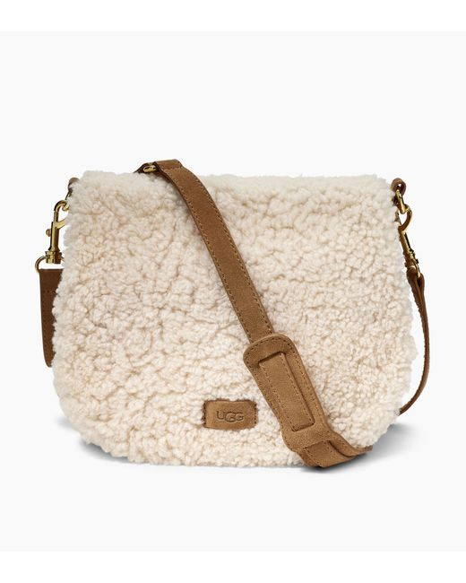 Ugg - Natural Women's Share This Product Livy Sheepskin Saddle Bag Ii - Lyst
