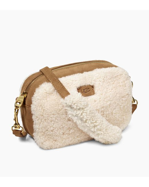 Ugg - Natural Women's Janey Sheepskin Crossbody Bag - Lyst