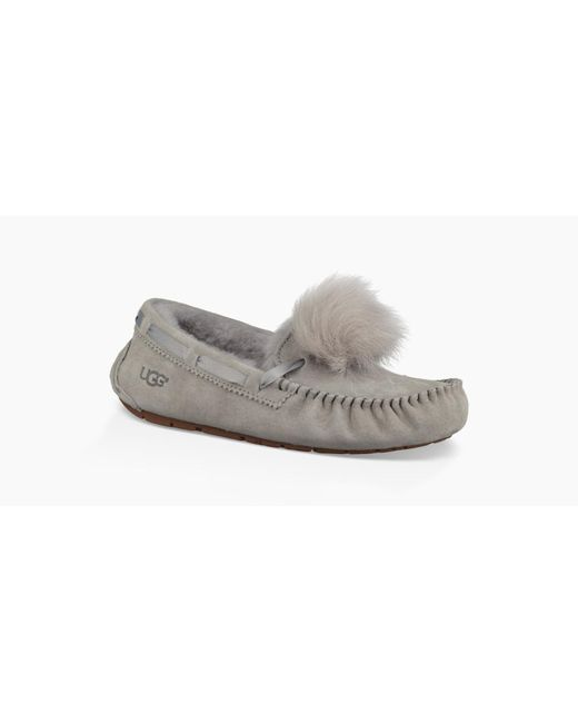da026cd0fc8 UGG Dakota Pom Pom Slipper Dakota Pom Pom Slipper in Gray - Lyst