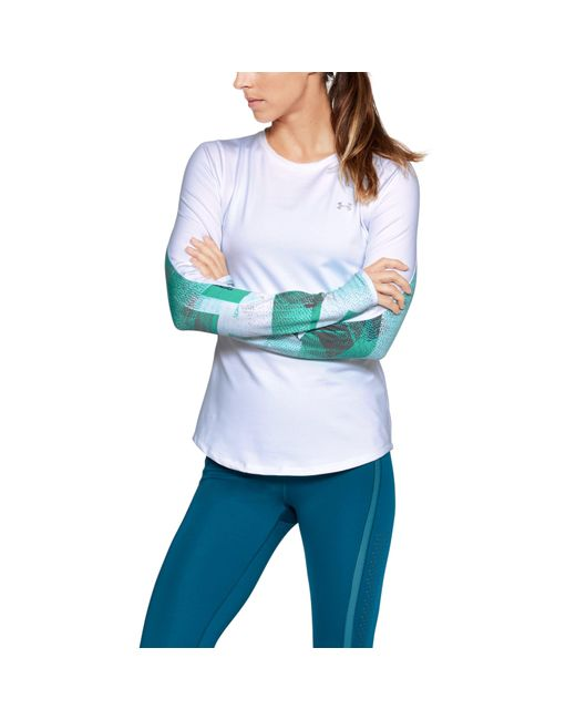 Under Armour - Multicolor Women's Coldgear® Armour Printed Fitted Crew - Lyst