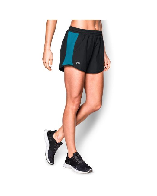 Under Armour   Black Women's Ua Fly-by Run Short 3 For $40   Lyst