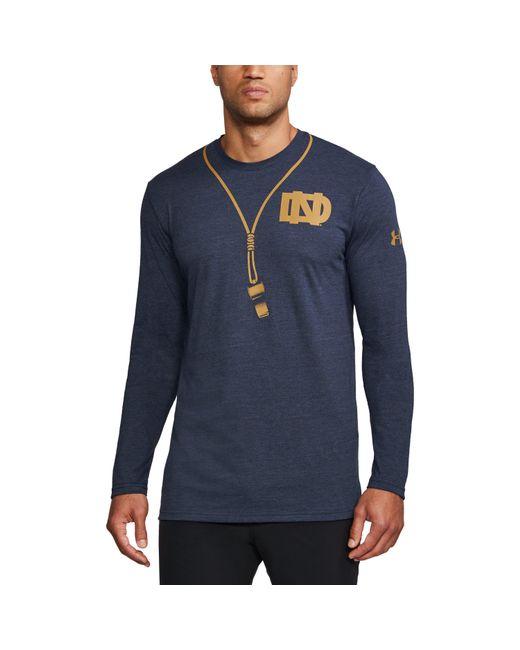 Under Armour   Blue Men's Notre Dame Ua Tri-blend Long Sleeve T-shirt for Men   Lyst