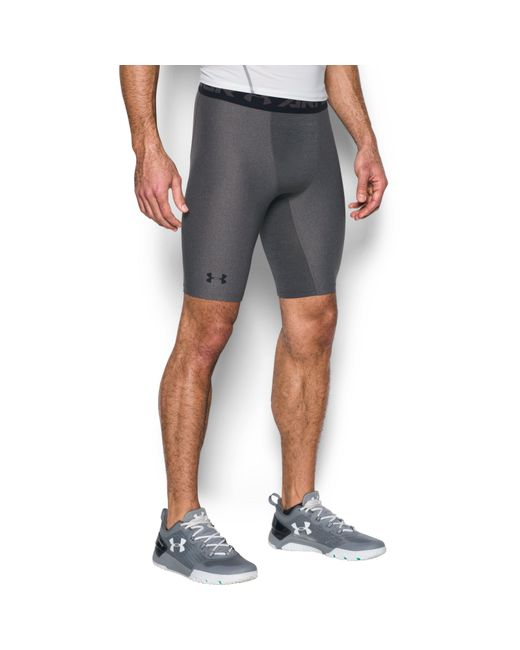 Under Armour | Gray Men's Heatgear® Armour Long Compression Shorts for Men | Lyst