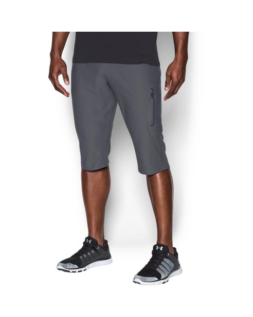 Under Armour   Gray Men's Ua Elevated Knit 3⁄4 Pants for Men   Lyst