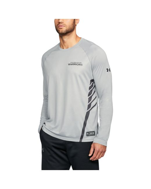 Under Armour - Gray Men's Nba Combine Ua Pinnacle Long Sleeve T-shirt for Men - Lyst