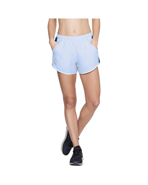 Under Armour - Blue Women's Ua Fly-by Shorts - Lyst